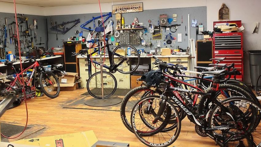 Village Bicycles repair area